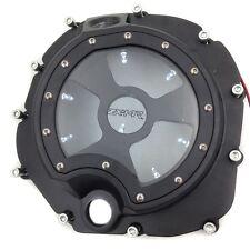 White LED Engine Clutch Cover See Through Kawasaki Zx14R Zzr1400 2006-2014 BLACK