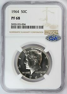 1964 NGC PF PR 68 United States Kennedy Half Dollar - QA Check