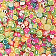 1000 Unids Frutas Mixtas Nail Art Tips Fimo Slices Polymer Clay Stickers DIY De