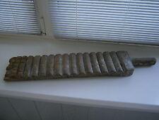 Vintage Handmade Laundry Stick Ridged Wood Washboard Clothes Bat Hand Wash Tool