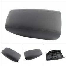 Leather Armrest Center Console Lid Cover Skin Fits Volvo S80 1999-2006 Black