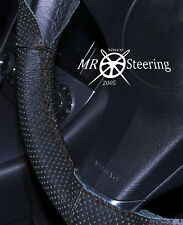FOR MAZDA 2 2002-2006 TRUE PERFORATED LEATHER STEERING WHEEL COVER DOUBLE STITCH