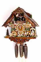 cuckoo clock black forest 8 day original germany  music beer drinker beer garden