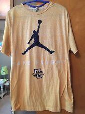 MARQUETTE Take Flight JORDAN Elephant Print Basketball T-shirt L Gold RARE USA