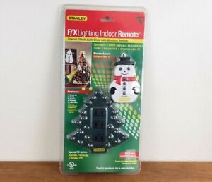 STANLEY F/X Lighting Indoor 3-Outlet w/ Remote for Christmas Tree Lights, NEW