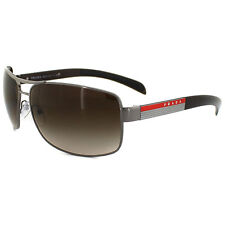 Prada Sport Sunglasses 54IS 5AV6S1 Gunmetal Brown Gradient