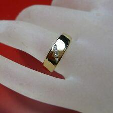 54 (17,2 mm Ø ) ANILLO EN 333/8k Oro Con Circonia Piedras