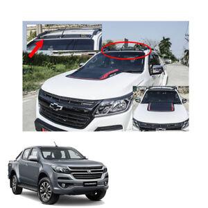 LED Front Roof Spoiler Cover Matt Black 1Pc For Chevrolet Holden Colorado 2017 +