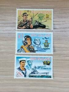 New Zealand 1968 New Zealand Armed Forces. 3 stamp set MNH SG:884-886