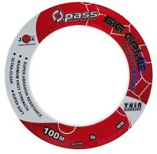Opass 60lb/100m Big Game Shock Leader Soft & Thin Fishing Leader Line - Clear