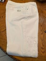 chicos Ladies White Jeans The So Slimming Girlfriend Ankle Chicos Size 2