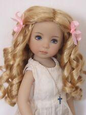 """perruque blonde boucles poupée moderne-Tête18/19cm-LD Ringlets doll wig sz7/8"""""""