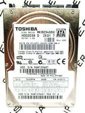 Toshiba 80GB MK8034GSX SATA (HDD2D38 D ZK01 T) Laptop HardDrive WIPED & TESTED!