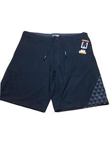 Da Hui Hybrid Collection Mens Stretch Shorts HYBRID 42 BLACK NWT