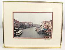 Murano Canal Italy Boats Venetian Waterway 18x14 Framed & Signed Photo Print