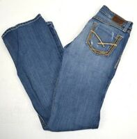 BKE Denim Buckle Women's Stella Distressed Boot Cut Blue Jeans 26x31.5