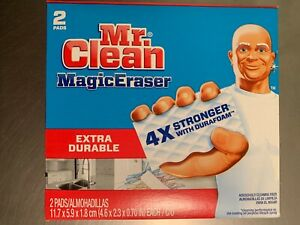 Mr. Clean Extra Durable Heavy Duty Magic Eraser 04249 For Multi-Purpose 2 Pads