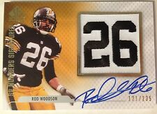 "Rod Woodson 2008 SP Authentic Numbers Signatures ""26"" Patch on-card Auto /135"