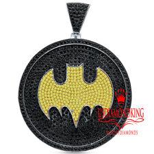 Mens Real Sterling Silver Big XL 3'' Custom Piece Batman Pendant Charm Medallion