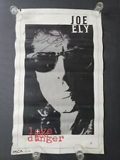 Joe Ely autograph promo poster Love and Danger 18 x 29