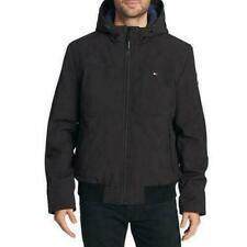 TOMMY HILFIGER SoftShell Bomber Jacket Coat with Hood Men's Large Black