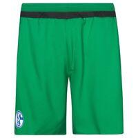 adidas SCHALKE 04 3RD KIT SHORTS GREEN MEN'S FOOTBALL SOCCER 5 A SIDE NEW BNWT