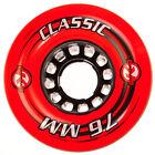 76mm x 45mm x 80a Kryptonics Classic Longboard Wheel, Set of 4 Wheels