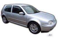 VW GOLF MK4 R32 GTI 3 DOOR FRONT WIND DEFLECTORS  2pc SET TINTED HEKO