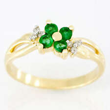 Handmade Emerald Yellow Gold Fine Rings