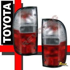 95-00 Toyota Tacoma Pickup Truck Red Clear Tail Lights Lamps 96 97 98 99 RH + LH