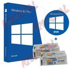 WINDOWS 8.1 PROFESIONAL SP1 DVD ADHESIVO COA STICKER WIN PRO PACK SEVEN 32 64