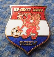 GRYF 2009 TCZEW / > WISLA / POLAND FOOTBALL FUSSBALL SOCCER ENAMEL PIN BADGE