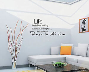 Life Isnt About Waiting For The Storm Wall Art Sticker Quote - Wall Stickers 016