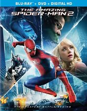 The Amazing Spider-Man 2 (Blu-ray+DVD, 2014) - Includes Slip Cover - Region Free