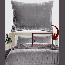 NWT $70 Martha Stewart Collection Tufted Velvet Standard Sham GREY #3273