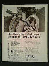 1966 Daisy B-B Gun Remington .22 Pump Western Cowboy Vintage Photo AD