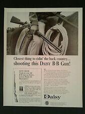 1966 Daisy B-B Gun Remington .22 Pump Western Cowboy Vintage Photo AD