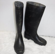 MARC JACOBS BLACK AND BROWN MARBLED RAIN BOOTS SZ 40