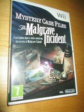 NEW Sealed ** Mystery Case Files: The Malgrave Incident * Nintendo Wii WII U PAL