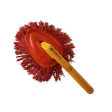 Car Duster California Style MINI ca 30cm lang rot Fransen gewachst mit Holzgriff