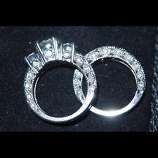 Platinum Bridal Ring Set Diamond 4.00 Carat GIA Certified Round Brilliant Cut