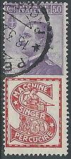1924-25 REGNO USATO PUBBLICITARI 50 CENT SINGER - R6-4