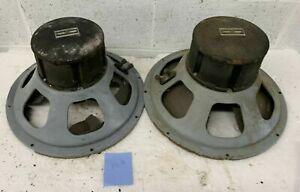"""Pair of 2 Vintage 15"""" RCA MI-9449 Speaker / Driver / Mechanisms"""