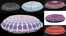 Wholesale Lot Of 10 Pc Mandala Floor Pillow Sham Round Ottoman Cushion Cover 32""