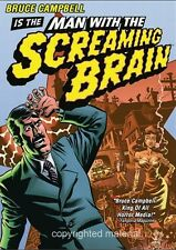 Man With The Screaming Brain (DVD, 2005) New, Bruce Campbell, Stacy Keach