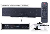 Auvisio 6-Kanal 3D Soundbar 5.1 Surround Bluetooth 4.0 HDMI 250Watt Lautsprecher