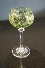 Beautiful Vintage Bohemian Flash Light Green Wine Hock