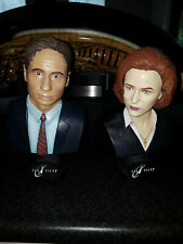 Extremely Rare! The X Files Mulder and Scully Figurine LE 5000 Bust Statue Set