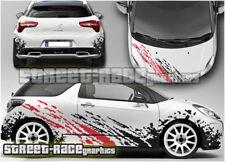 Citroen DS3 Rally 005 R3 R5 grunge mud splatter full graphics stickers decals