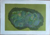 ENNIO MORLOTTI litografia Girasoli anno 1974 70x50  firmata numerata 109/125